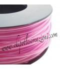 Cordoncino PVC Rosa Lilla Trasparente 4 mm Forato (1 metro)