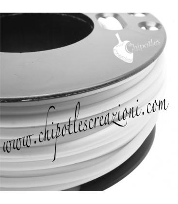 Cordoncino PVC Bianco 4 mm Forato (1 metro)