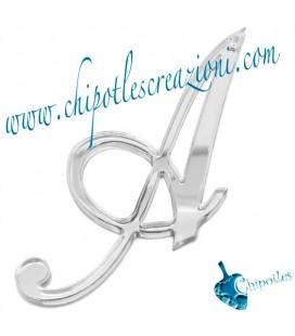 Ciondolo Lettera Alfabeto 8 cm Plexiglass Vari Colori